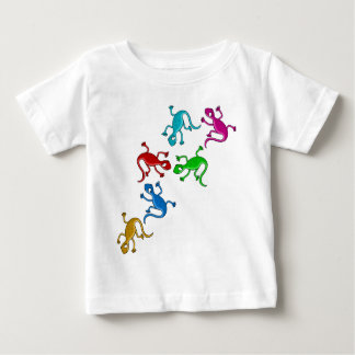 Lézards colorés et espiègles t-shirt pour bébé