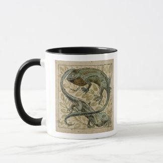Lézards, conception pour une tuile (la semaine sur mug