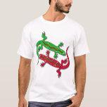 Lézards de Gecko de danse T-shirt