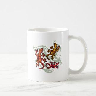 Lézards fleuris mug
