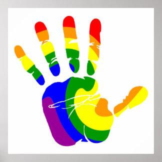 LGBT Handprint Poster