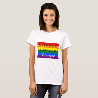 "LGBTQ ""devinent"" la pièce en t divergente T-shirt"