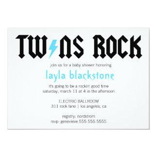 LGC jumelle l'invitation de garçons de roche Carton D'invitation 12,7 Cm X 17,78 Cm