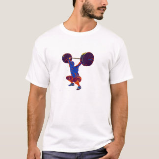 L'haltérophilie des hommes, forme physique, t-shirt