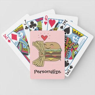 L'hamburger aime des fritures jeux de 52 cartes