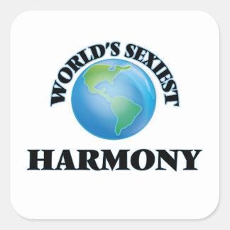L'harmonie la plus sexy du monde stickers carrés