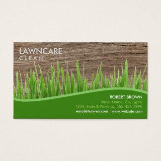 L'herbe de jardinier d'aménagement en bois cartes de visite