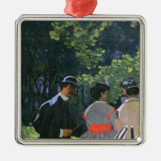 l'Herbe de sur de Dejeuner de Claude Monet |, Ornement Carré Argenté