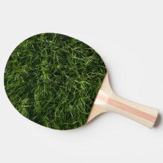 L'herbe est toujours une palette plus verte de raquette de ping pong