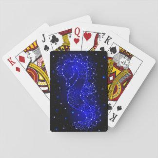 l'hippocampe nage dans les lumières jeux de cartes