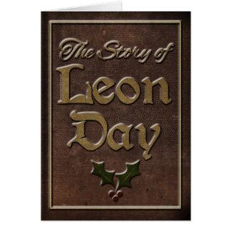 L'histoire de la carte de voeux de jour de Léon