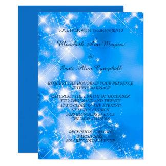 L'hiver bleu glacial tient le premier rôle le carton d'invitation  12,7 cm x 17,78 cm