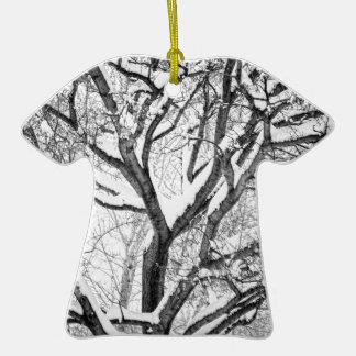 L'hiver de Milou s'entrelacent Ornement T-shirt En Céramique
