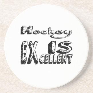 L'hockey est excellent dessous de verre en grès