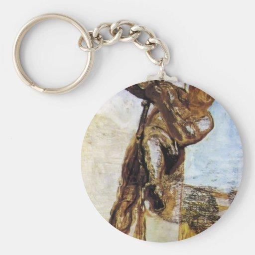 L'homme avec la corde par Honore Daumier Porte-clés
