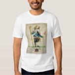L'homme avec six caricatures de Heads', de Charles T-shirts