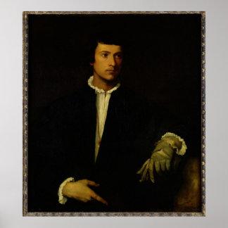 L'homme avec un gant, c.1520 poster