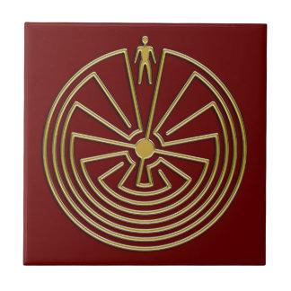 L'homme dans le labyrinthe - or carreau