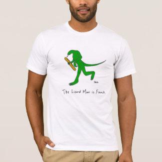 L'homme de lézard est français. (Hommes) T-shirt