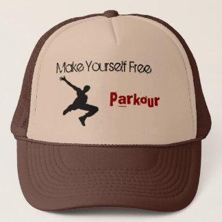 l'homme de parkour, se rendent libres, Parkour Casquette