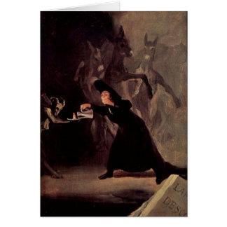 L'homme enchanté par Francisco Goya 1798 Carte De Vœux