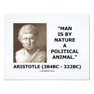 L'homme est par nature un animal politique cartons d'invitation