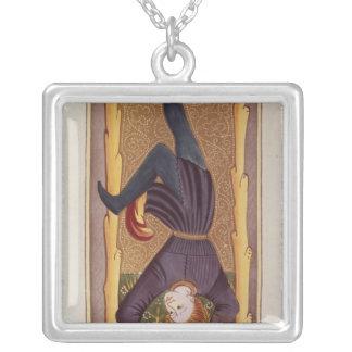 L'homme pendu, carte de tarot, française pendentif carré