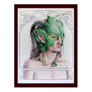 L'homme vert carte postale