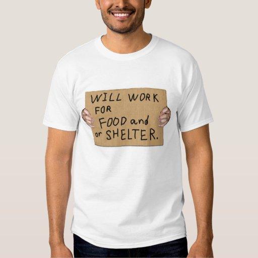 L'honnêteté sans abri, fonctionnera pour la t-shirts