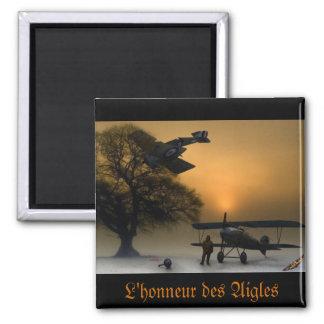 L'honneur des Aigles Magnet Carré