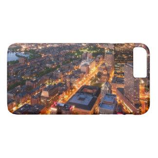 L'horizon de Boston au crépuscule Coque iPhone 7 Plus