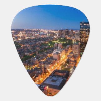 L'horizon de Boston au crépuscule Onglet De Guitare