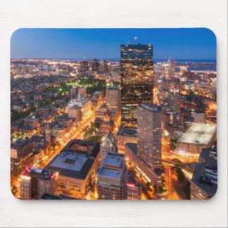 L'horizon de Boston au crépuscule Tapis De Souris