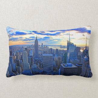 L'horizon de la fin de l'après-midi NYC comme Coussin Rectangle