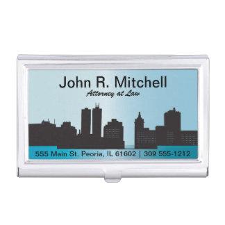 L'horizon de ville personnalisent le porte-cartes boîtier pour cartes de visite