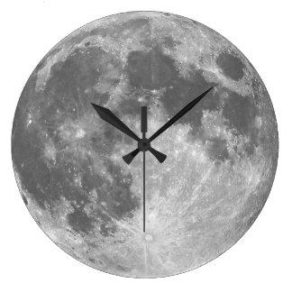 L'horloge murale de lune grande horloge ronde