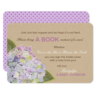 L'hortensia de lavande rustique a lu une carte de