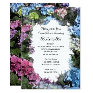 L'hortensia fleurit l'invitation nuptiale de carton d'invitation  12,7 cm x 17,78 cm