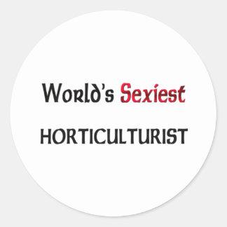 L'horticulteur le plus sexy du monde autocollants ronds