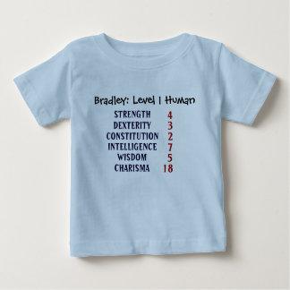 L'humain du niveau 1 personnalisent t-shirt pour bébé