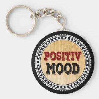 L'humeur positive porte-clé rond