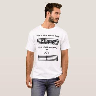 L'humour de musique soit T-shirt silencieux