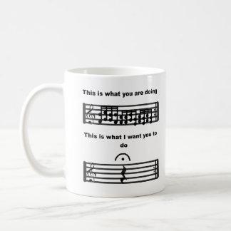L'humour de musique soit tasse silencieuse