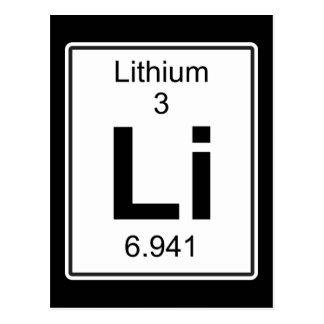 Li - lithium carte postale