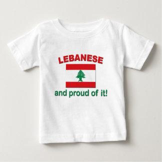 Libanais fier t-shirt pour bébé