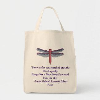 Libellule avec le sac de citation