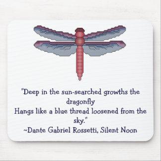 Libellule, citation de Rosetti Tapis De Souris