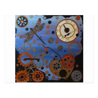 libellule de steampunk cartes postales
