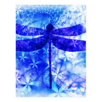 Libellule d'hiver carte postale