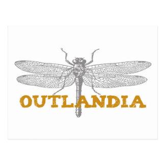 Libellule d'Outlandia en ambre Carte Postale